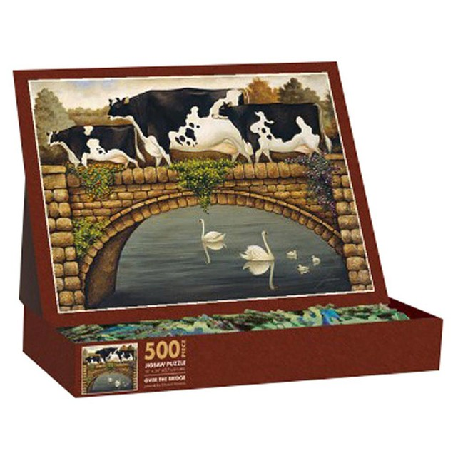 Lowell Herrero Over the Bridge 500 Piece Puzzle, 500 Piece Puzzle by Lang C