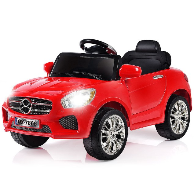 Costway 6V Kids Ride On Car RC Remote Control Battery Powered w/ LED Lights