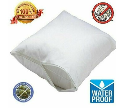 2-Pack: Hypoallergenic Bed Bug and Waterproof Zippered Pillow Cover Protector Was: $39.99 Now: $9.99.