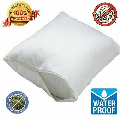 2-Pack: Hypoallergenic Bed Bug & Waterproof Zippered Pillow Cover Protector