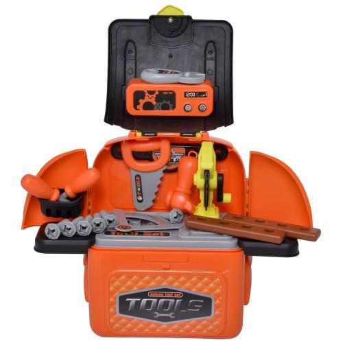 34 Piece Children's Work Educational Play Tool Multifunctional Set, Orange