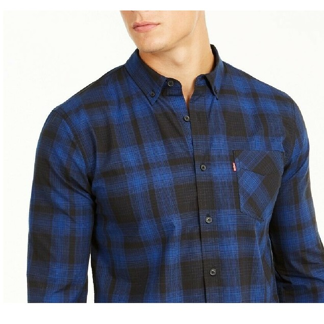 Levi's Men's Chama Plaid Shirt Gray Size XX Large