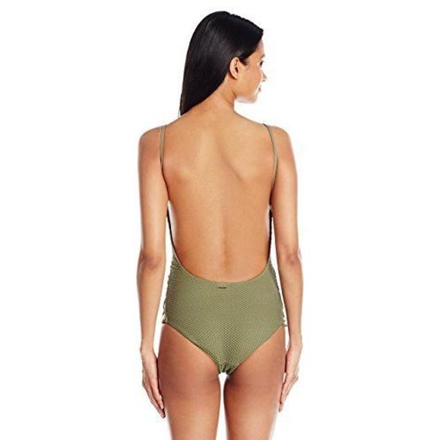 Billabong Women's Meshin with You One Piece Swimsuit, Sea Grass, SZ SM