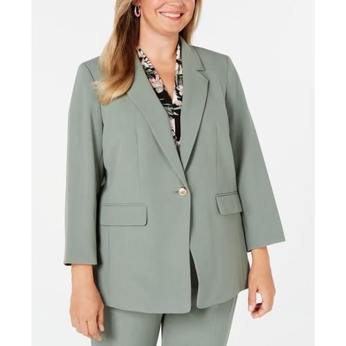 Nine West Women's Plus Size One-Button Blazer Aspen Size 18