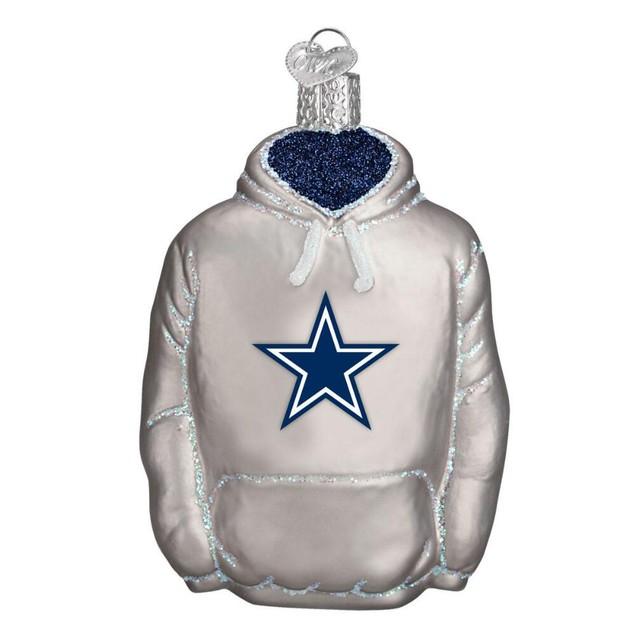 Dallas Cowboys NFL Hoodie Glass Ornament Christmas Xmas Funny Holiday Gift