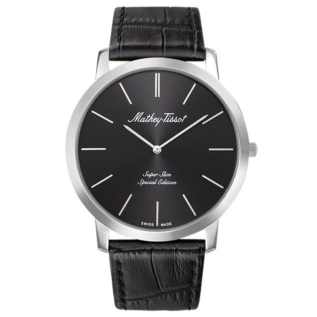 Mathey Tissot Men's Cyrus Black Dial Watch - H6915AN