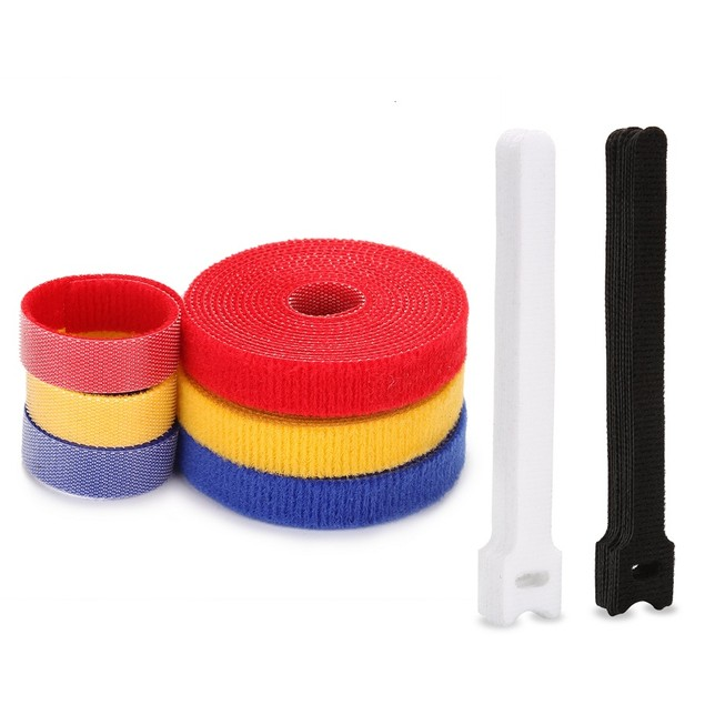 Fastening Tape Three Rolls(19.68 ft)+20 PCS Fastening Cable Ties Organizer