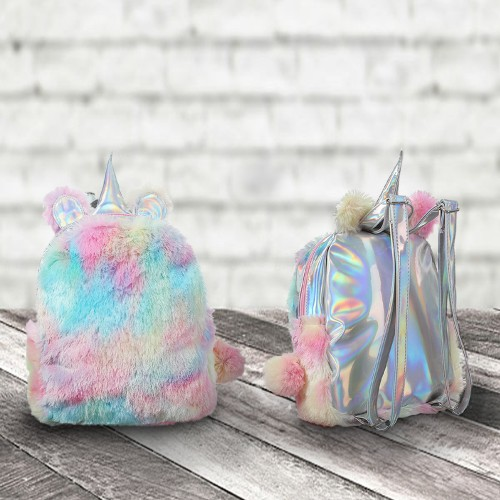 Kids Soft Tie-Dye Unicorn Backpack