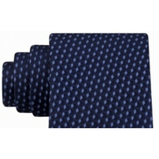 Michael Kors Men's Shadowed Geo Diamond Tie Blue Size Regular