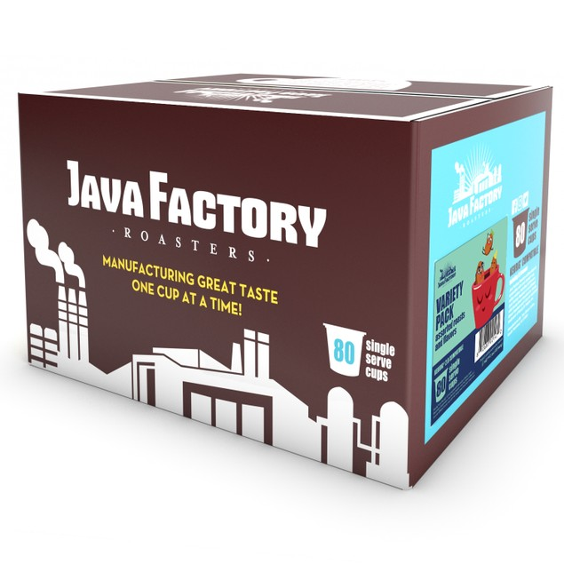 Java Factory Assorted FLAVORED Coffee Pods, for Keurig Brewers, 80 Count