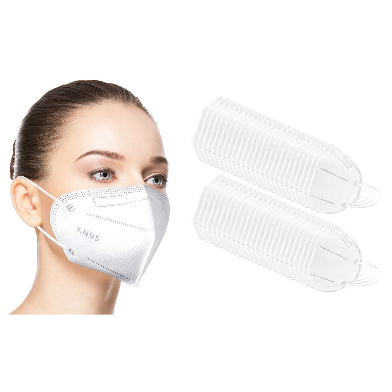50-Pack Disposable KN95 4-Layer Breathable Face Masks