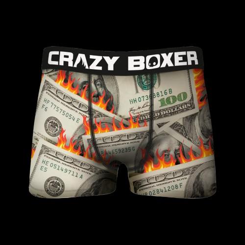 Crazy Boxers Burning Benjamins Cash Boxer Briefs