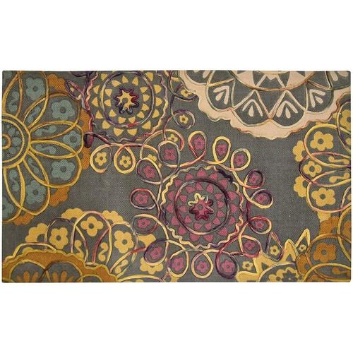 Spura Home 45X27 Western Design Printed Hand Made Embroidered Area Rug