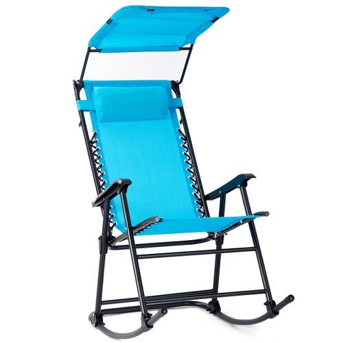 Costway Zero Gravity Folding Rocking Chair