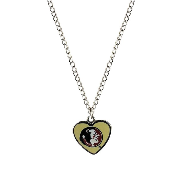 Cleanlapsports Florida State Heart Shaped Pendant Necklace