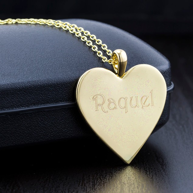 Personalized Bar Or Heart Necklace - 3 Colors