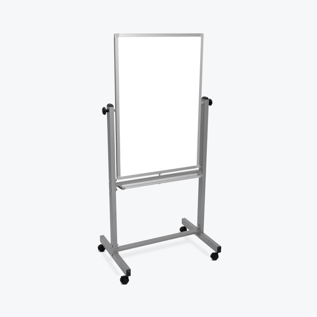 """Luxor Mobile 24""""W x 36""""H Dry Erase Double-Sided Magnetic Whiteboard"""