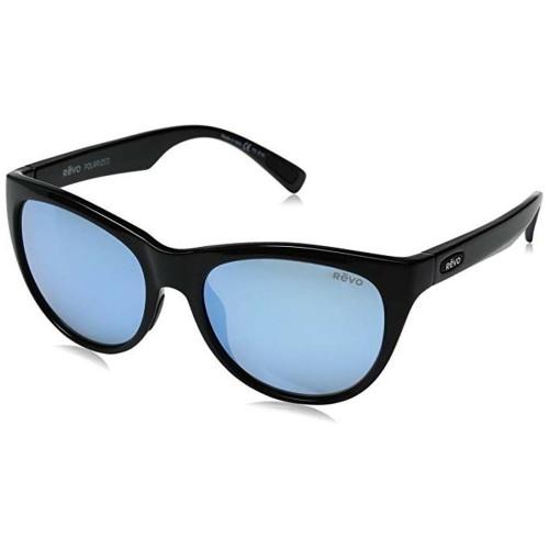 Revo Barclay Polarized Sunglasses Shiny Black, Blue Mirror RE1037