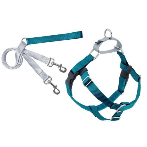 Freedom No-Pull Dog Harness Training Package with Leash, Teal Small