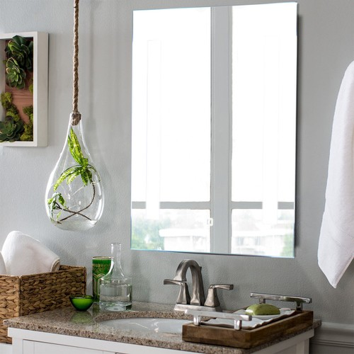 Costway LED Mirror Wall-mounted Bathroom Makeup Illuminated Mirror W/Touch