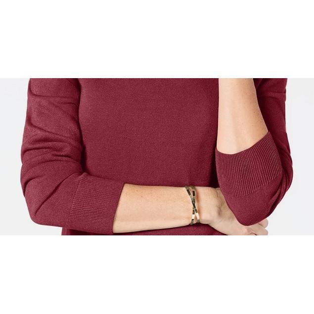 Karen Scott Women's Turtleneck Sweater Medium Red Size Large
