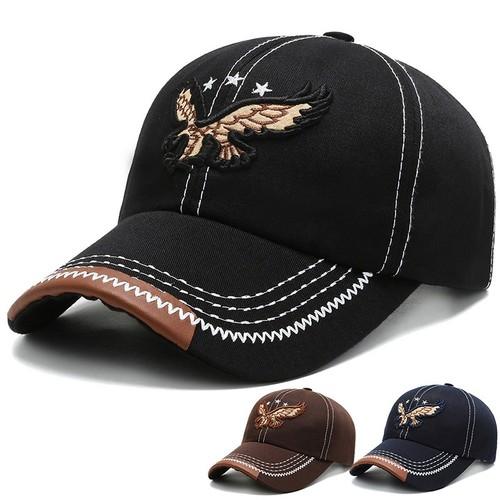 3-color Embroidered Eagle Men's Cap