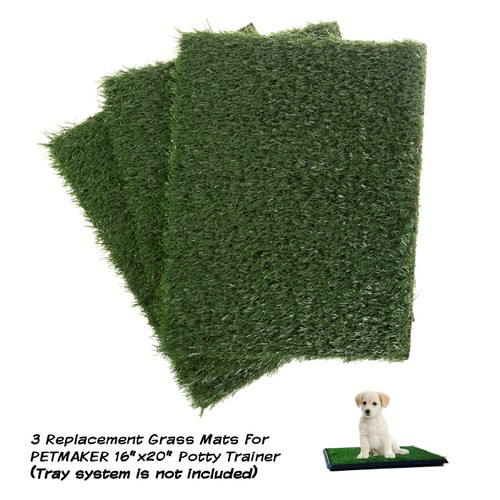 Replacement Grass Mats- Set of 3 Turf Pads for Puppy Potty Trainer
