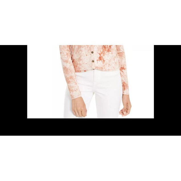 Self Esteem Junior's Long Sleeve Tie Dye Top Brown Size Small