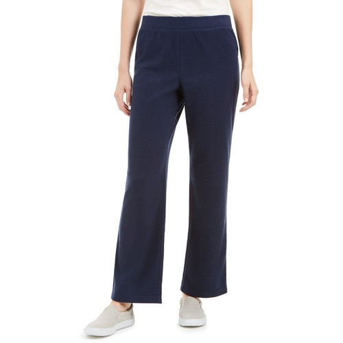 Karen Scott Women's Petites Microfleece Pants Blue Size 44
