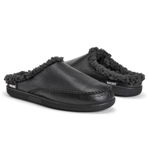 MUK LUKS Men's Clog-Black Slipper
