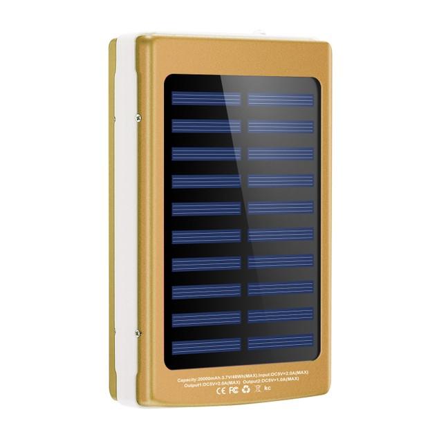 20000mAh Solar Power Bank 48W Emergency External Battery Pack