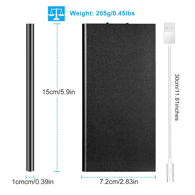 20000mAh Power Bank Ultra-thin External Battery Pack