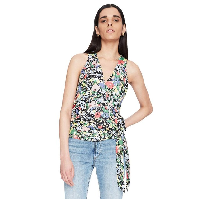 Parker Women's Cannes Floral Halter Tank Kenna Top, Small, Multicolor