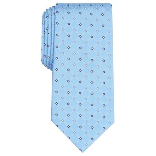 Club Room Men's Linked Neat Tie Blue Size Regular
