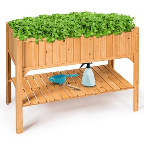 Raised Garden Bed Elevated Planter Box Shelf Standing Garden Herb Garden Wo