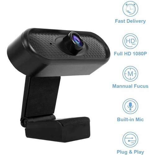 AkasoTec 1080P Full HD Webcam with Built-in Microphone for PC/Mac Book/Laptop