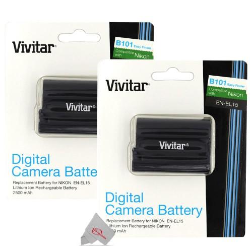 Two XPDENEL15 Replacement Battery for Nikon EN-EL15 Battery
