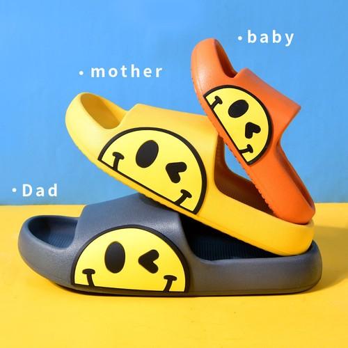 Cartoon Cute Parent-child Platform Non-slip Smiley Sandals