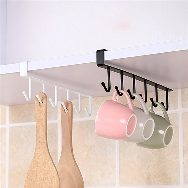 Multifunctional Metal Hook Cupboard Mug Holder Shelf Mug Hooks Rack Hanger