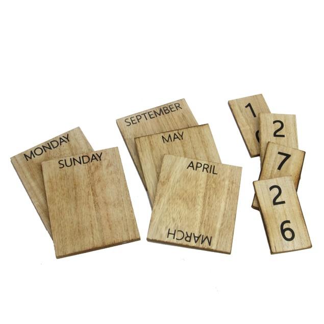 Wooden Vintage Perpetual Calendar | MandW Wood