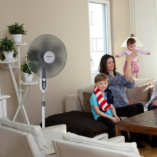 Costway 18'' Pedestal 3-Speed Oscillating Fan
