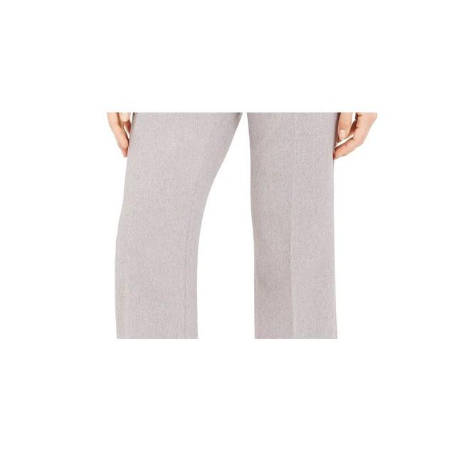 Calvin Klein Women's Zipper Pocket Cropped Twill Pants Grey Size 12