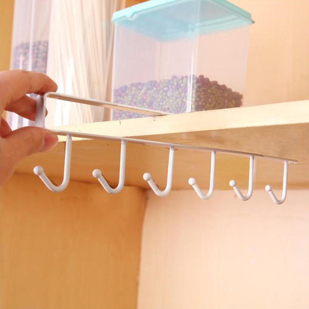 Multifunctional Metal Hook Cupboard Mug Holder Shelf Mug Hooks Rack Hanger
