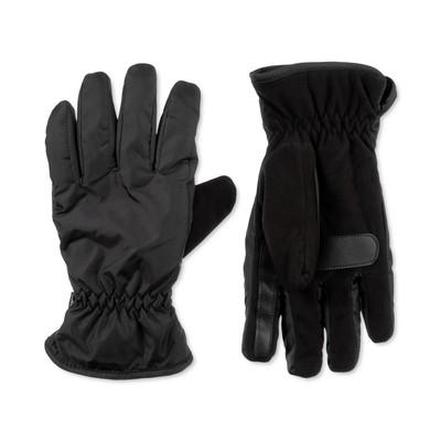 Isotoner Signature Men's Sleek Heat Sports Gloves Black Size Large