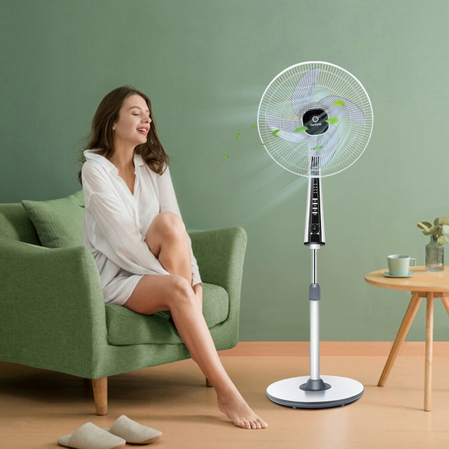 Costway 15'' Pedestal Fan with 3-Speeds and Remote