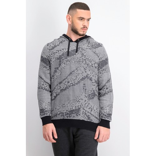 INC International Concepts Men's Jax Hooded Knit Sweater  Gray Size Large