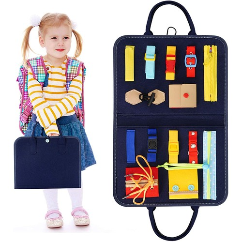 Montessori Learn to Dress Folding Case Educational Learning Toy