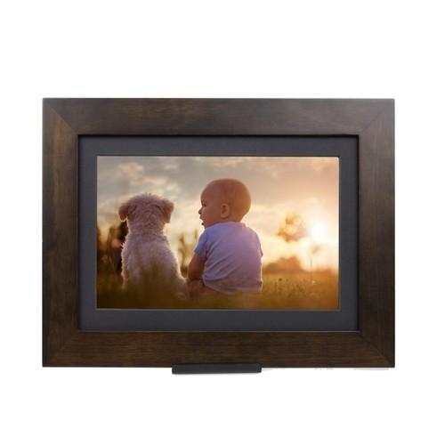 "SimplySmartHome PhotoShare Smart Frame 8"", Espresso (Certified Refurbished)"