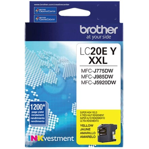 Brothers Brother LC20EY Super High Yield Yellow Ink Cartridge