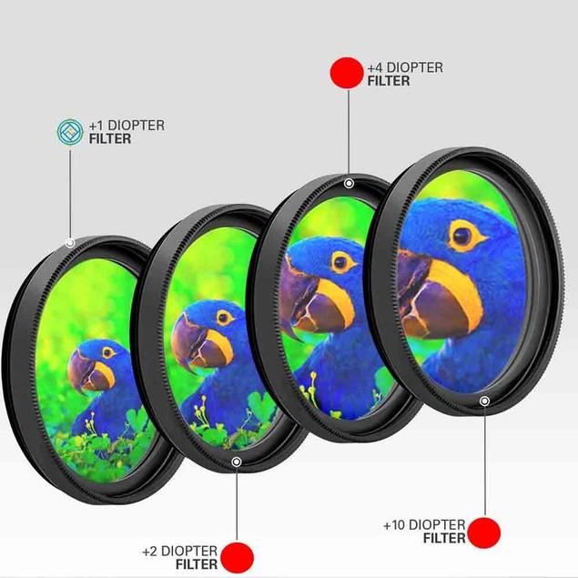 Vivitar Series 1 1 2 4 10 Close-Up Macro Filter Set w/Pouch (55mm)
